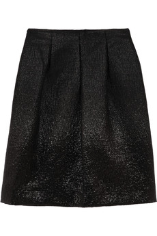 Fendi Ombré-effect metallic skirt