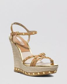 Michael Kors Platform Wedge Espadrille Sandals - Shea