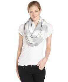 Calvin Klein grey and white dyed stripe infinity scarf
