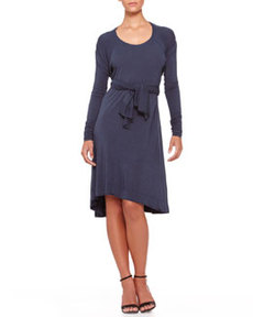 Tie-Front Trapeze Dress   Tie-Front Trapeze Dress