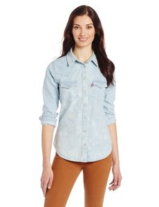 Levi's Women's Cloud Wash Denim Western Shirt