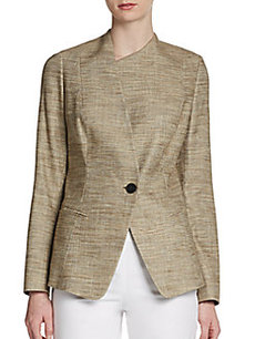 Lafayette 148 New York Bridget Asymmetrical Jacquard Jacket