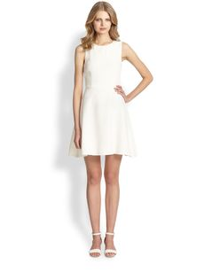 Trina Turk Embellished Crepe Fit-and-Flare Dress