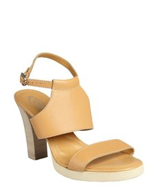Tod's brown sugar leather 'Sophie Bikini' ankle strap heeled sandals