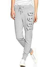 Logo shadow slim sweats