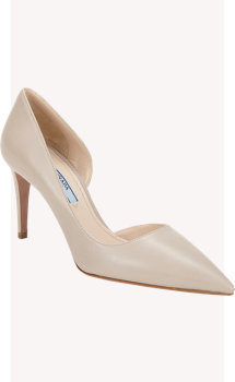 Prada Half d'Orsay Point-Toe Pump