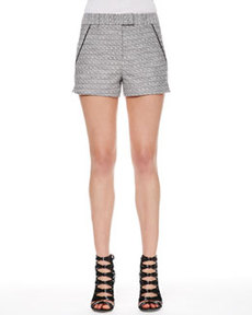 Tweed Piped-Pocket Shorts   Tweed Piped-Pocket Shorts
