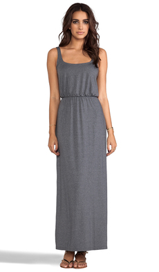 "Susana Monaco Melange Terri 42"" Dress in Gray"