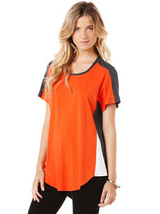 short sleeve colorblock tee