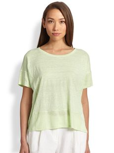 Eileen Fisher Linen Boxy Top