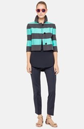 Akris punto Stripe Crop Crepe Jacket