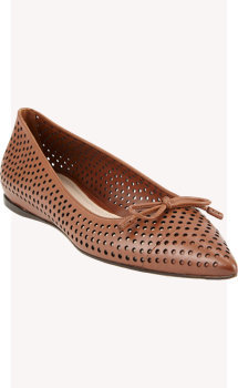 Prada Point-Toe Perforated Flats