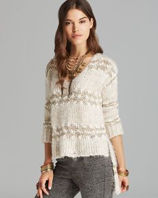 Free People Pullover - Linus Stripe