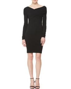 Long-Sleeve Twist-Front Dress   Long-Sleeve Twist-Front Dress