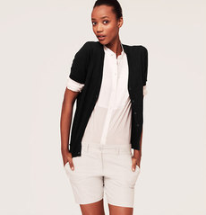 Petite Cotton Short Sleeve Cardigan