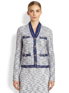 St. John Degrade Honeycomb Knit Jacket