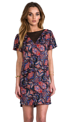 Ella Moss Lora Print Dress in Black