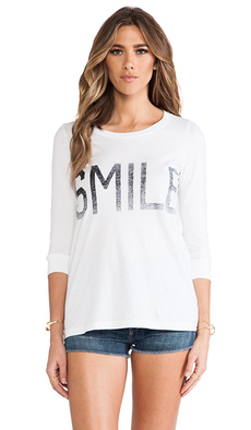 "Rebel Yell x REVOLVE ""Smile"" Long Sleeve Cross Country Lounger in White"