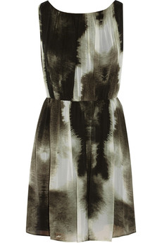 Alice + Olivia Mary printed silk-chiffon dress