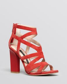 FRENCH CONNECTION Open Toe Caged Sandals - Isla High Heel