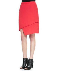J Brand Ready to Wear Maryse Asymmetric Tiered Skirt