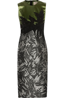 Jason Wu Embellished satin and jacquard dress