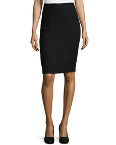 Lafayette 148 New York Boucle Suiting Skirt, Black