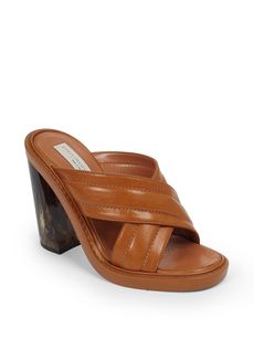 Stella McCartney Crisscross Faux Leather Mules