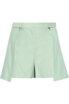 3.1 Phillip Lim Layered cotton and silk-blend twill shorts