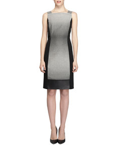 Lafayette 148 New York Saturnine Cloth Sleeveless Sheath Dress