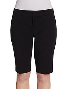Saks Fifth Avenue BLACK Bermuda Dress Shorts