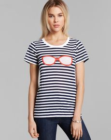 FRENCH CONNECTION Tee - Stripes and Sunglasses
