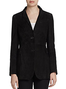 Akris Punto Suede-Paneled Jacket
