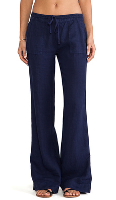 Joie Javina Wide Leg Pant in Navy