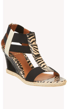 Fendi Espadrille Mid Sole Wedge Sandal