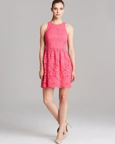 Trina Turk Dress - Parry Sleeveless Parry Rose Bud Lace