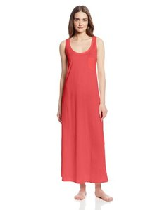 Hanro Women's Cotton Deluxe Long Tank Nightgown