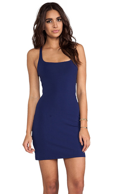 "Susana Monaco Racer Mini 18"" Dress in Navy"