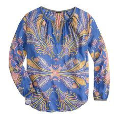 Feather paisley top