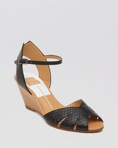 Dolce Vita Peep Toe Wedge Sandals - Kimbra