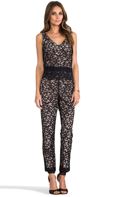 Trina Turk Zia Lace Jumpsuit in Black