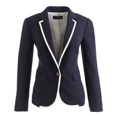 Collection tipped wool blazer