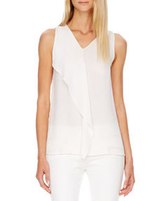 Michael Kors Flutter-Panel Silk Top