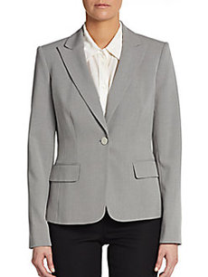 Calvin Klein Tri-Blend Single-Button Blazer