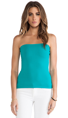 "Susana Monaco 9"" Tube top in Teal"