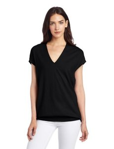 Jones New York Women's Extended Shoulder Tunic With Woven