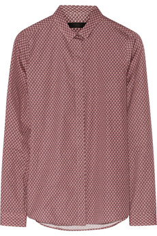 Burberry Prorsum Printed cotton-poplin shirt