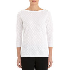 Boat Neck Tunic with 3/4 Sleeves
