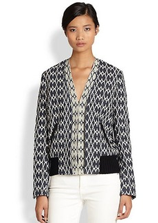 Derek Lam 10 Crosby Intarsia-Knit Cardigan Jacket