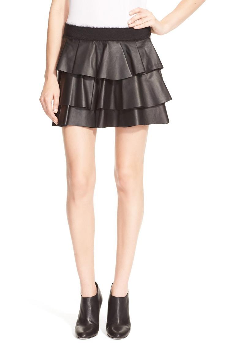 derek lam derek lam 10 crosby leather ruffle skirt